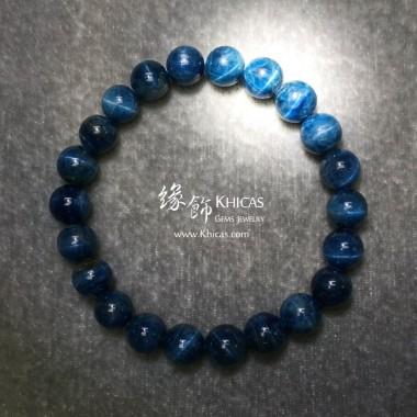 斯里蘭卡 4A+ 貓眼藍色磷灰石手串 8.5mm