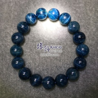 斯里蘭卡 4A+ 貓眼藍色磷灰石手串 13mm
