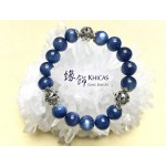 5A+ 美國藍晶石圓珠 10mm 襯 925 銀珠