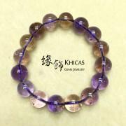 紫黃晶圓珠手串 12mm