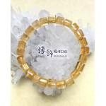 2A+ 巴西黃晶三角桶型珠手串 7x7mm