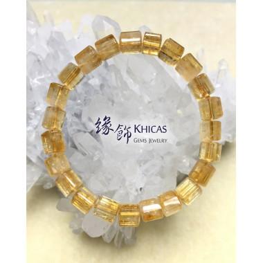 2A+ 巴西黃晶三角桶型珠手串 7x7mm (2)