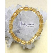 2A+ 巴西黃晶三角桶型珠手串 7x7mm (3)