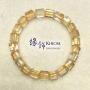 2A+ 巴西黃晶三角桶型珠手串 7x7mm (4)