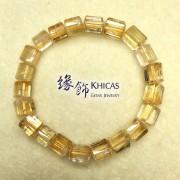 2A+ 巴西黃晶三角桶型珠手串 7x7mm (5)
