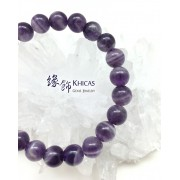 巴西夢幻紫晶圓珠手串 8mm