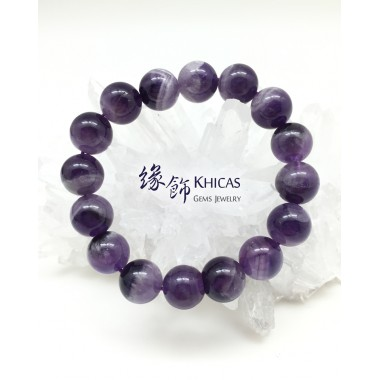 巴西夢幻紫晶圓珠手串 12mm
