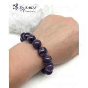 巴西夢幻紫晶圓珠手串 14mm