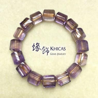 紫黃晶三角桶型手串 10x11mm (2)