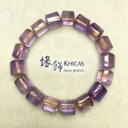 紫黃晶三角桶型手串 10x11mm (3)