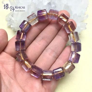 紫黃晶三角桶型手串 10x11mm (4)