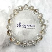 巴西 2A+ 銀髮晶圓珠手串 10.5mm+/-