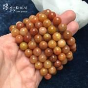 新疆紅種戈壁玉手串 10mm