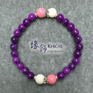 紫石手串 6mm 間海竹珊瑚 8mm