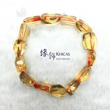 5A+ 巴西黃晶不定形手串 ~13mm