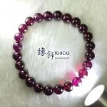 印度 4A+ 紫石榴石手串 7.5mm+/-