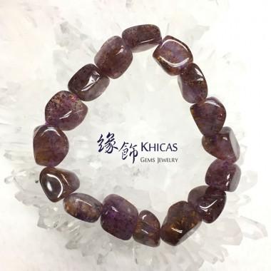 巴西 4A+ 紫鈦晶不定形手串 ~13mm