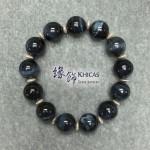 4A+ 南非藍虎眼石手串 14mm 間銀飾