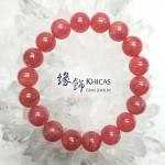 阿根廷 4A+ 冰種紅紋石手串 10.5mm