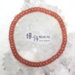4A+ 阿根廷紅紋石盤珠手串 5.5mm