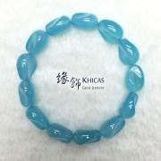 台灣 5A+ 海藍玉髓不定形手串 ~12x16mm