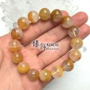 巴西黃兔毛髮晶聚寶盆手串 13.5mm