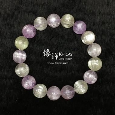 5A+ 巴西玻璃種貓眼紫鋰輝手串 12mm+/-