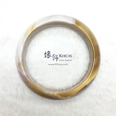 緬甸 4A+ 木化玉 / 玉化木化石闊手鐲(內徑 ⌀58mm / 1.55)