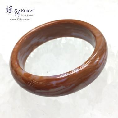 緬甸 4A+ 木化玉 / 玉化木化石闊手鐲(內徑 ⌀59mm / 1.55)