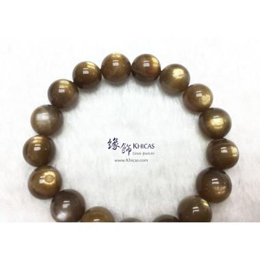 巴西 4A+ 金銀雙眼黑太陽石手串 11.5mm