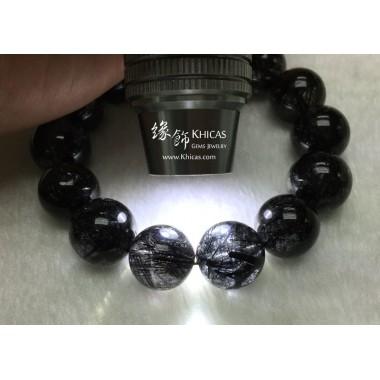 巴西 5A+ 特濃黑髮晶手串 16.5mm