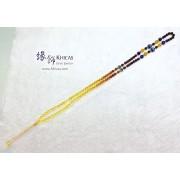 彩虹琥珀 6mm+/- 長頸鏈 / 項鍊