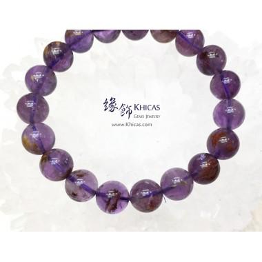 4A+ 巴西紫水晶/幽靈共生手串 10mm+/-
