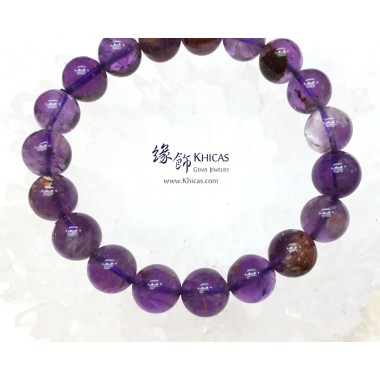 巴西 4A+ 紫水晶/幽靈共生手串 10mm+/-