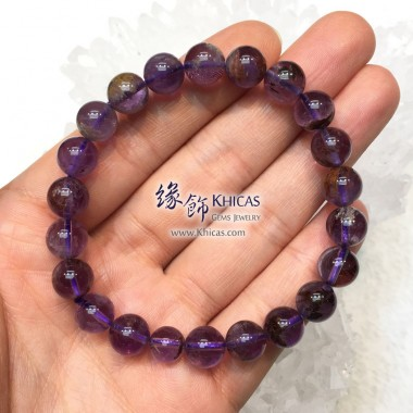 巴西 4A+ 紫水晶/幽靈共生手串 9mm+/-