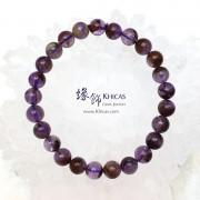 巴西 4A+ 紫水晶/幽靈共生手串 8.5mm+/-