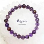 4A+ 巴西紫水晶/幽靈共生手串 8.5mm+/-