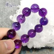 烏拉圭 5A+ 全清紫水晶手串 13mm+/-
