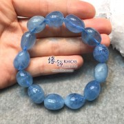 巴西 5A+ 海藍寶不定形手串 ~13mm