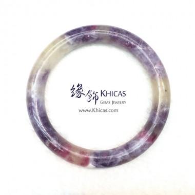 阿富汗 3A+ 紫紅碧璽圓鐲(內徑 ⌀53.7mm / 1.44)