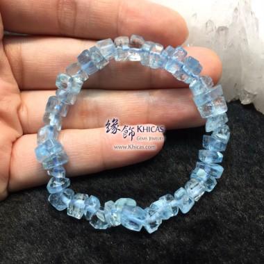 巴西 5A+ 海藍寶不定形手串