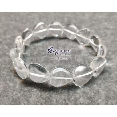 巴西白水晶心形手串 ~13.5mm