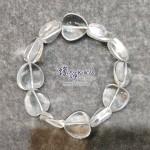 巴西白水晶心形手串 ~16mm