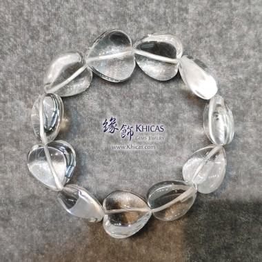 巴西白水晶心形手串 ~18.5mm