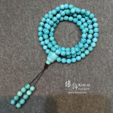 美國綠松石 108 顆佛珠 (念珠) 手串 6.3mm+/-