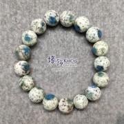 4A+ K2 Blue(藍銅礦與鈉長石共生)手串 12.3mm+..