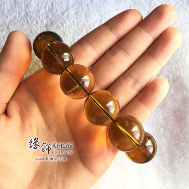 墨西哥藍珀圓珠手串 21.5mm+/-