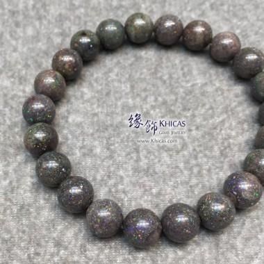 澳洲黑澳寶(蛋白石)手串 8.5mm+/-