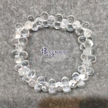 巴西白水晶花生形手串