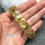 巴西 4A+ 爆花金鈦晶手排 15.1x6.4mm